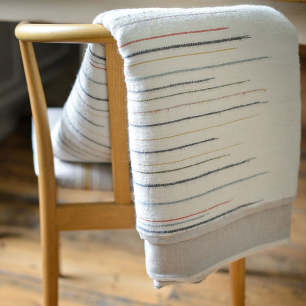 Chalkney Stripe Throw - Ecru