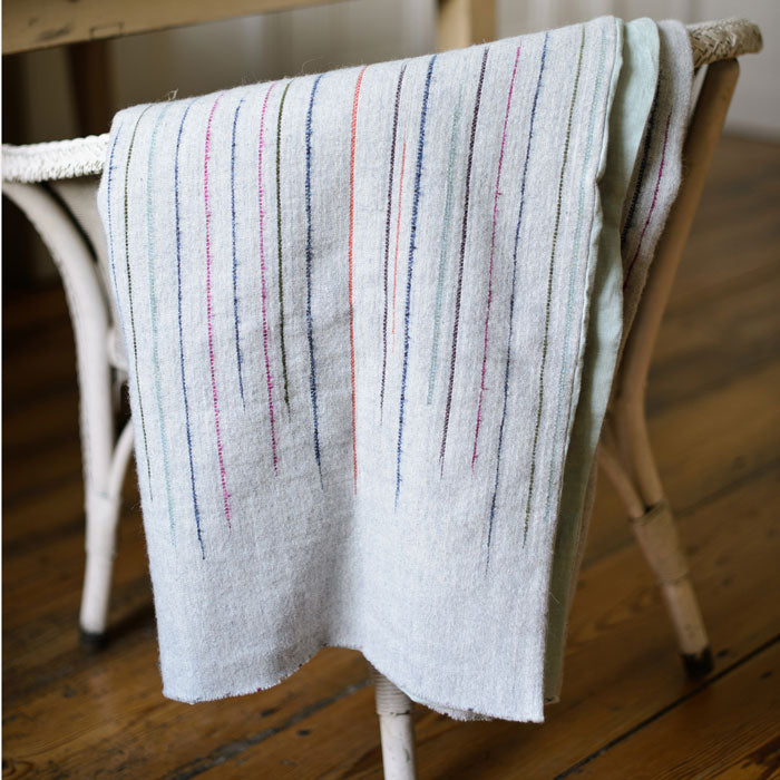 Chalkney Stripe Throw - Soft Grey