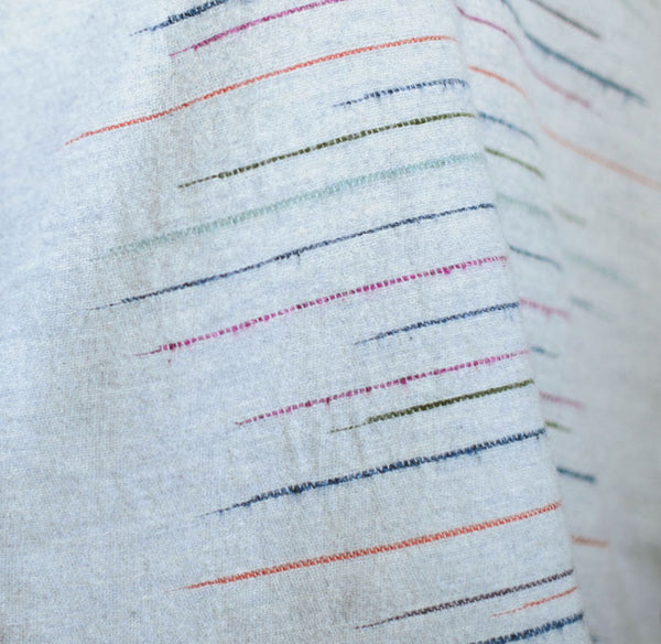 Chalkney Stripe Throw - Soft Grey, detail