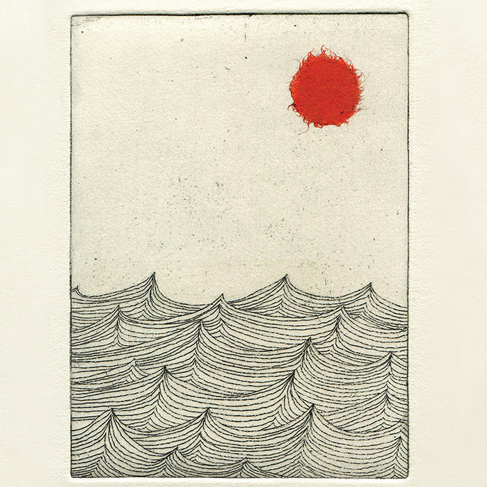 Sun, Sea, Sky. Archival print by Norfolk based artist Louisa Jones