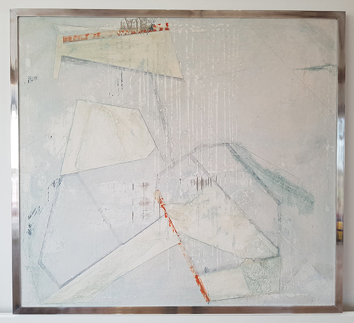 Abstract painting by Suffolk based artist Amanda Edgcombe