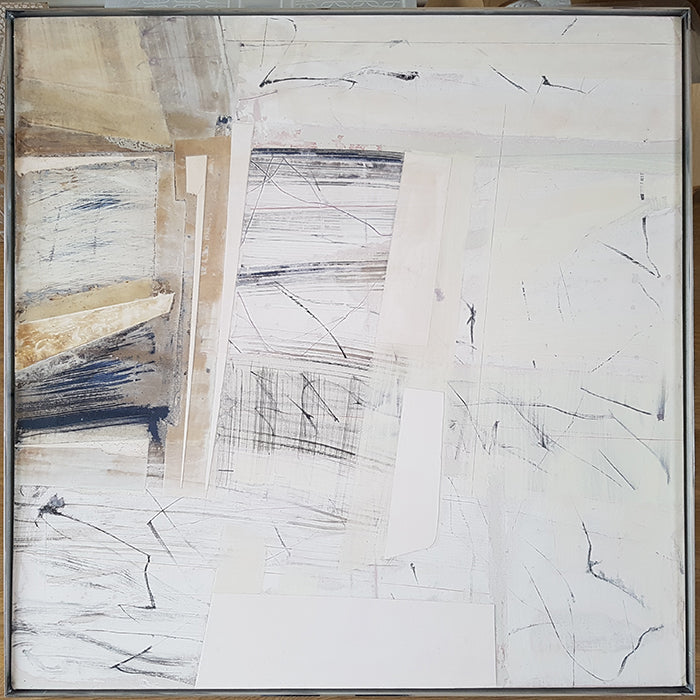 RAW. Abstract painting by Suffolk based artist Amanda Edgcombe.