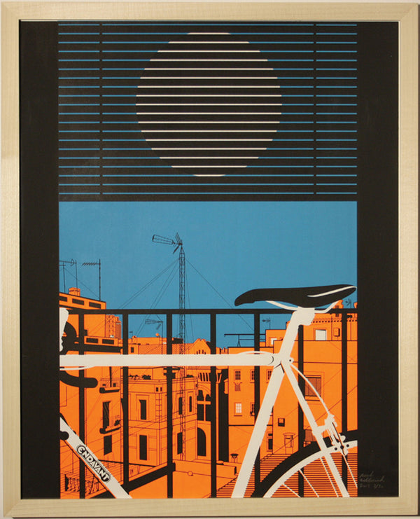 Screen print (using fluorescent orange) Signed by Paul Wolterink