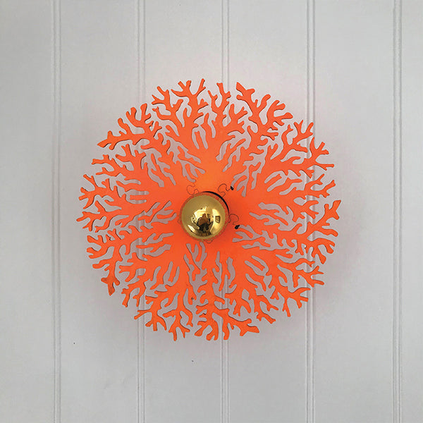Coral - Wall Light (Fluorescent Orange)