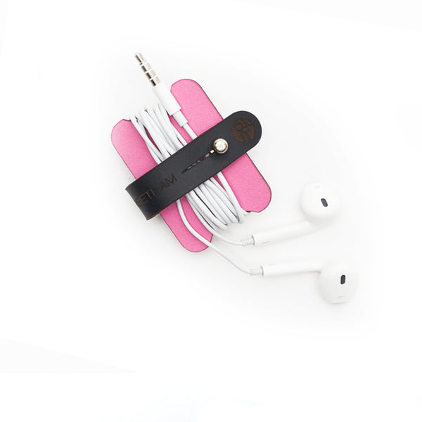 Headphone Cable Tidy - Pink