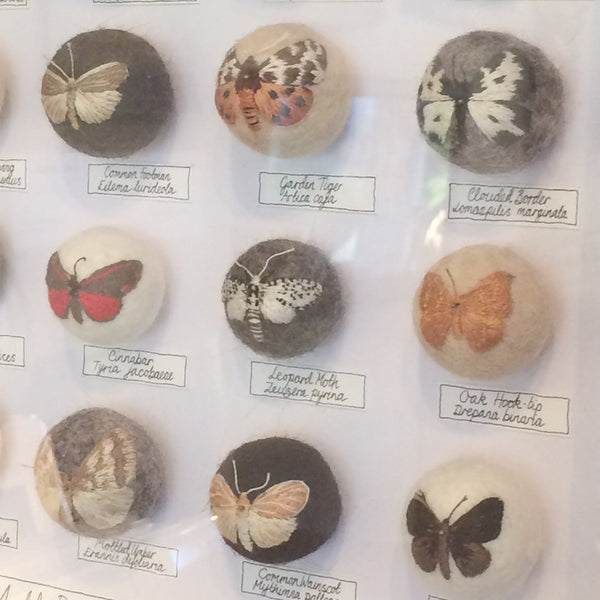 Moth Ball Collection. Embroidered bugs by designer Claire Moynihan