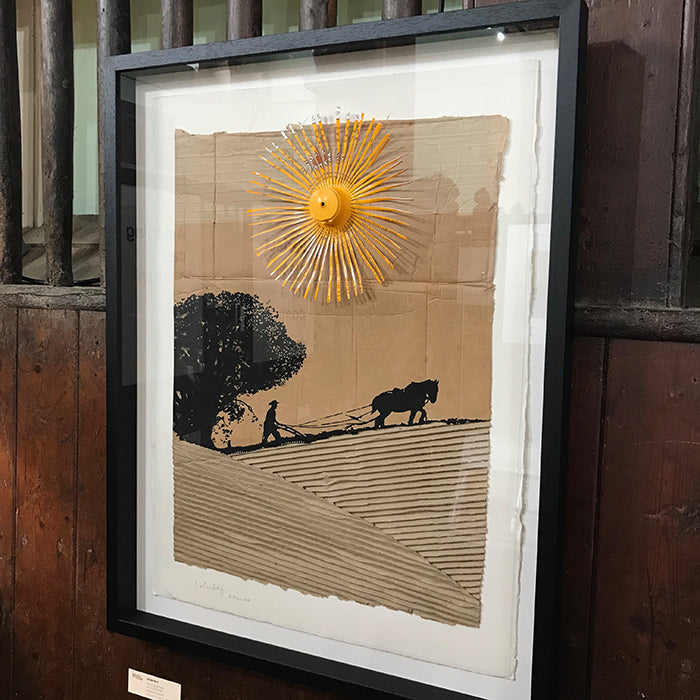 THE PLOUGHMAN SERIES Mixed media by Norfolk based artist Colin Self