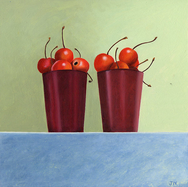 A still life painting by Norwich based artist Joceline Wickham