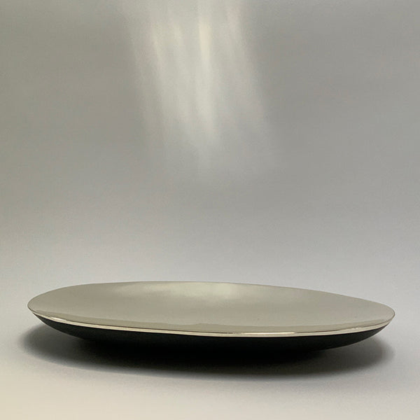 SLATE BOWL WITH CHROME PAINT FINISH