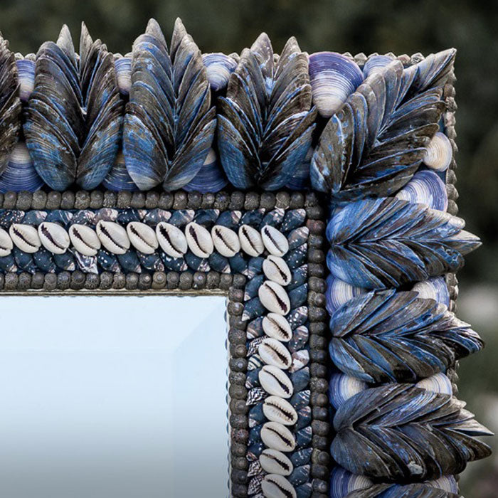 Mussel Shell Mirror, 100 x 80cm, detail