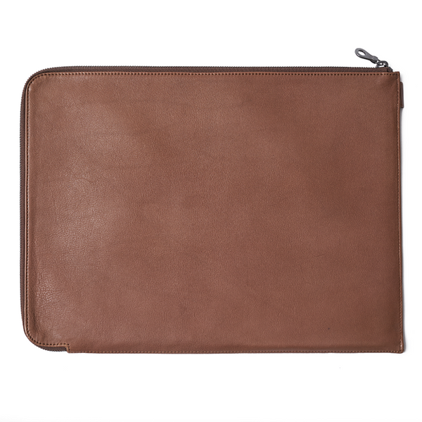 Folio Laptop Sleeve - Tan