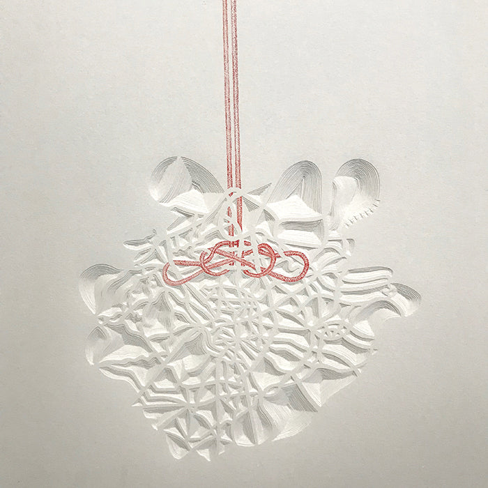 Knot Map, Madrid. Paper construction by Norwich based Joni Smith
