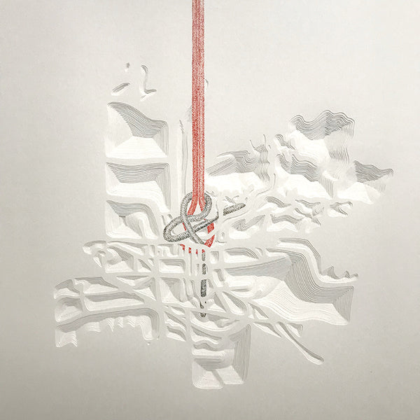 Knot Map, Wells next the Sea. Paper cut  by Norwich based Joni Smith