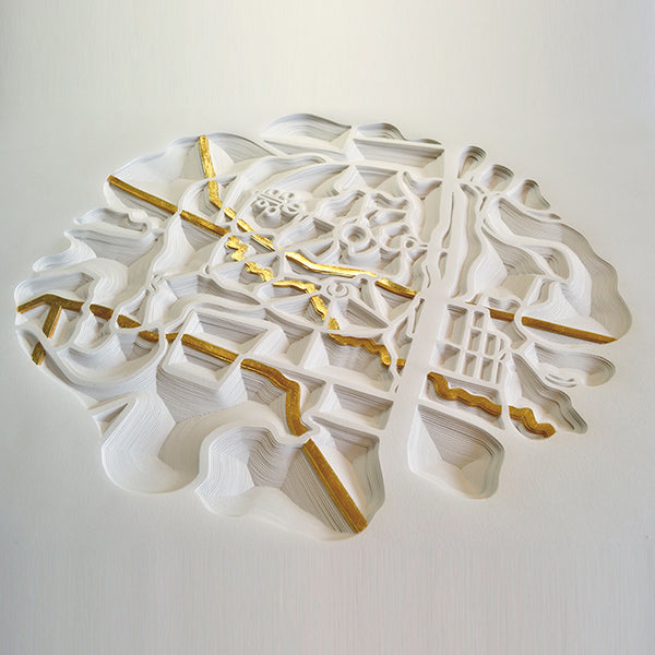 Hand cut paper work by Norwich based artist Joni Smith
