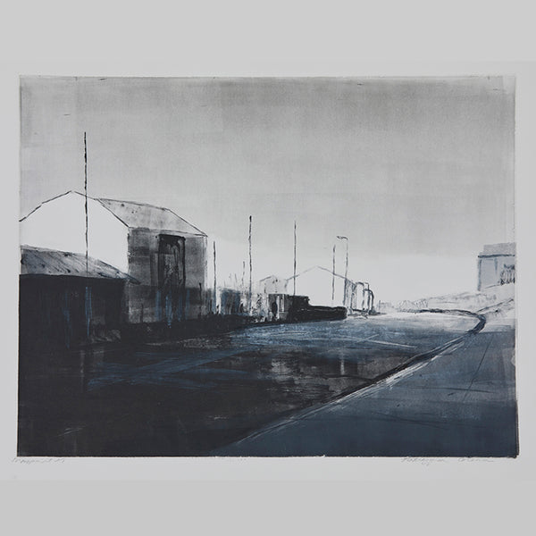 Monoprint of Great Yarmouth by Norfolk based artist Katargyna Coleman