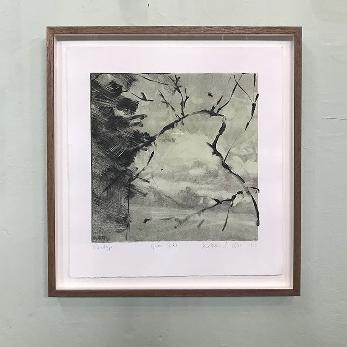 Monotype by Norfolk based artist Kate Giles