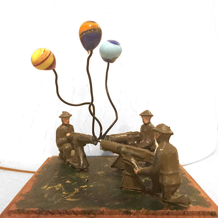FIGHT OR FLIGHT. Sculpture by Norfolk based artist Keron Beattie
