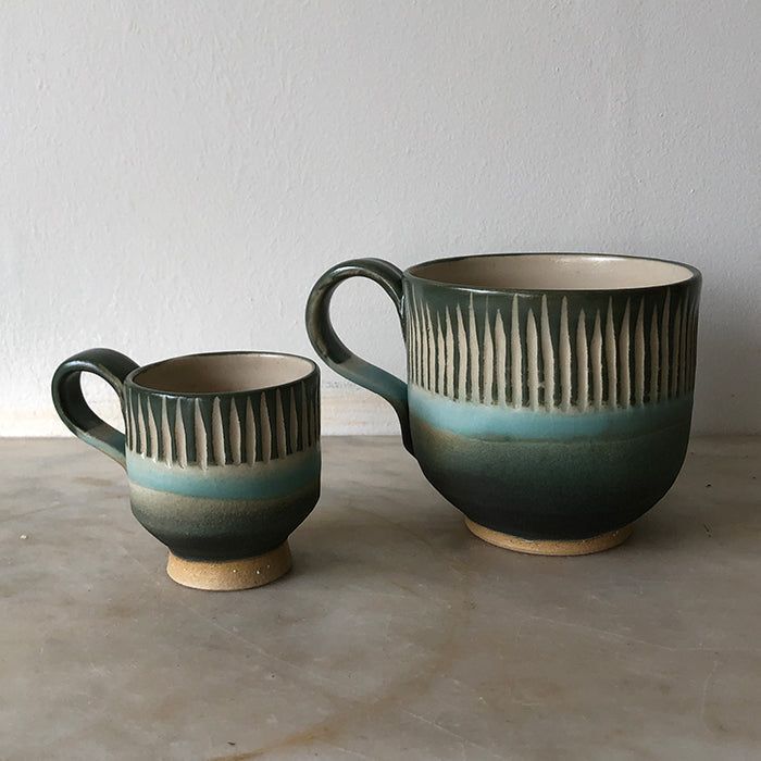 Espresso cup - green and blue