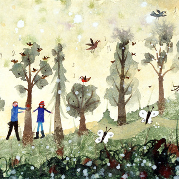 Walking in the Woods at Holkham, detail