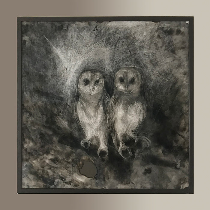 The Owl Sanctuary. Original drawing signed by Norfolk based artist Maria Pavledis