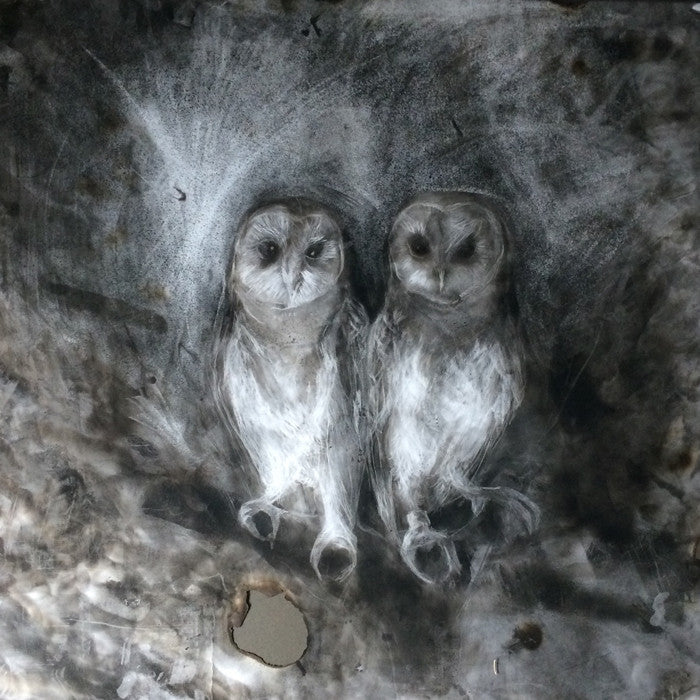 The Owl Sanctuary. Print by Norfolk based artist Maria Pavledis