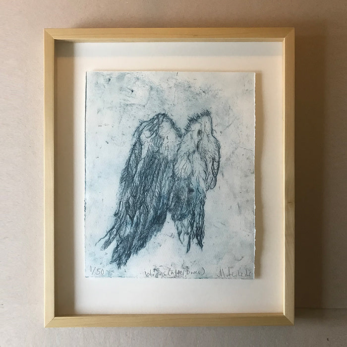 Wings (After Dürer). Print by Norfolk based artist Maria Pavledis
