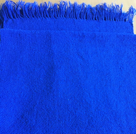 Royal Blue hand woven scarf