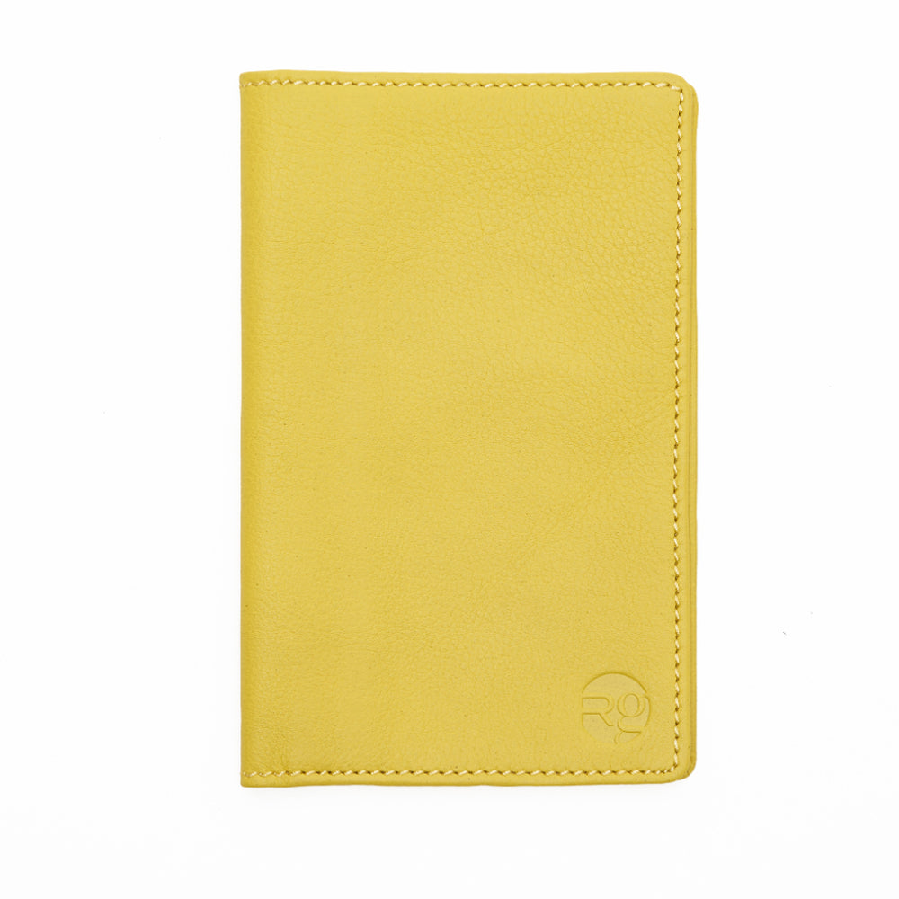 Notebook and Passport Holder - Yellow