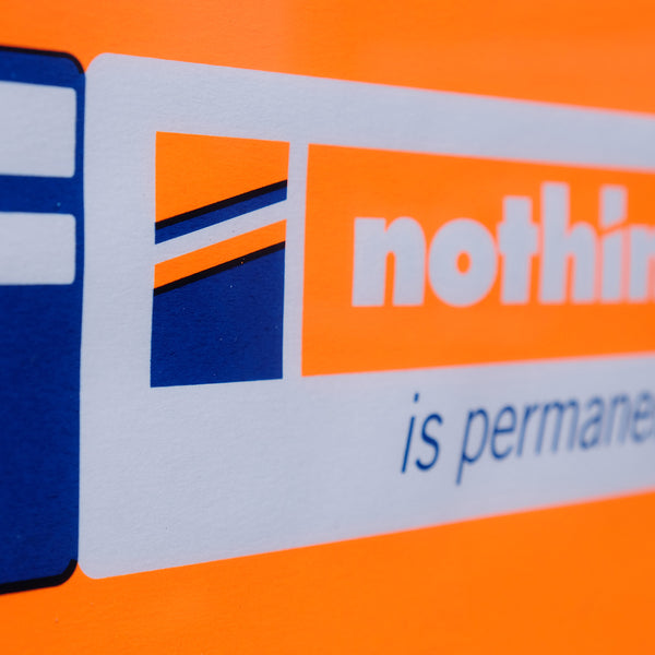 Nothing is Permanent - orange and blue (unframed)