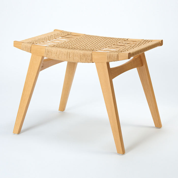 Pi stool. With woven cord seat by Norfolk based designers par-avion