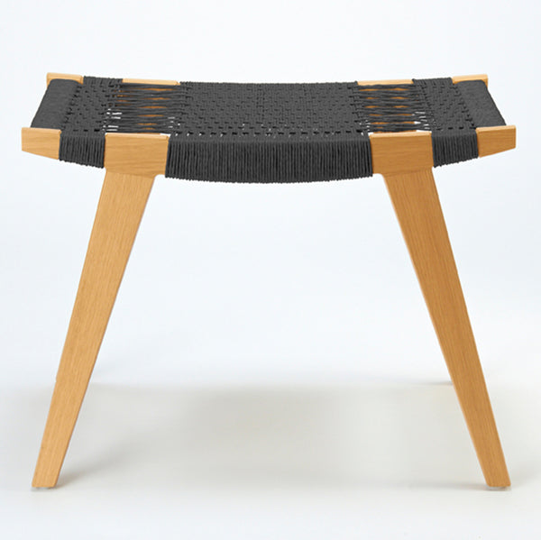 Pi stool - oak with black cord