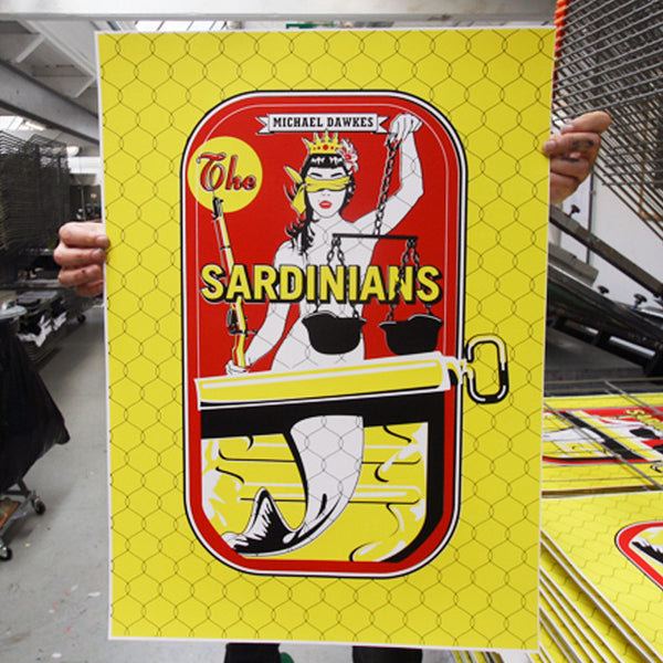 The Sardinians. Screenprint by Norfolk based artist Paul Wolterinik