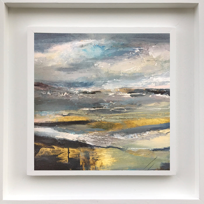 Raw Ocean. Landscape painting by Norfolk based artist Tracey Ross