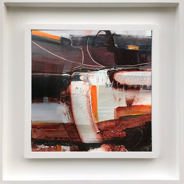 Rocky Orange. Abstract landscape by Norfolk based artist Tracey Ross