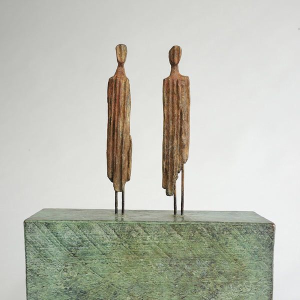 TIME OR TIDE. Bronze sculpture by Suffolk based artist Roger Hardy