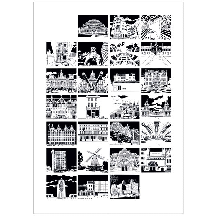 A-Z of London - Print of original paper cut by Norwich based artist Ruth Howes