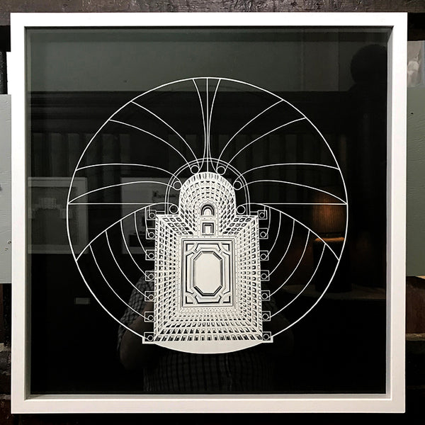 Hand cut showing plan of Parliament by Norfolk based artist Ruth Howes