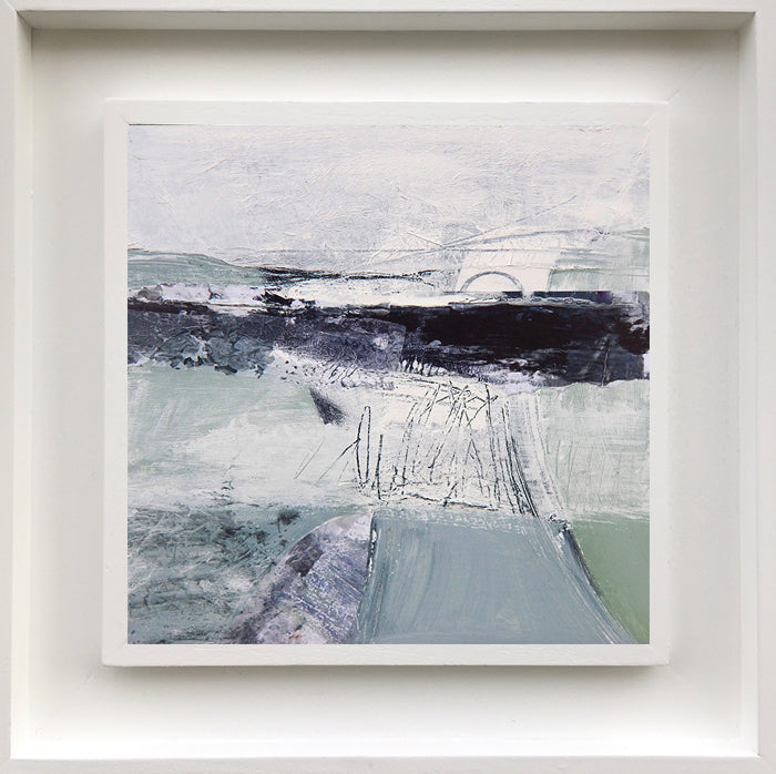 SECOND NATURE. Abstract coastal landscape by Norfolk based artist Tracey Ross
