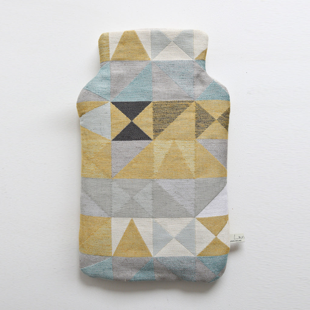Southwold Geometric waterbottle cover. By Suffolk based Laura Fletcher