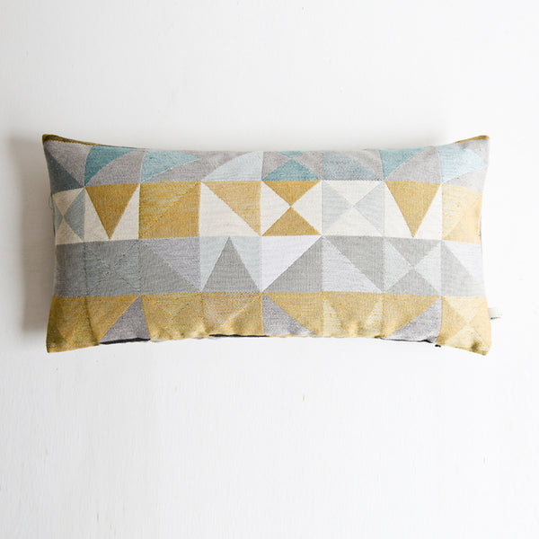 Southwold Small Geometric cushion – mustard