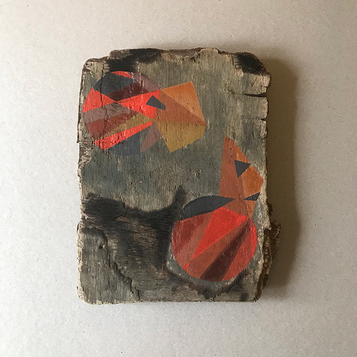 Untitled IV. Painting on weathered board by Norfolk artist Susi Joel