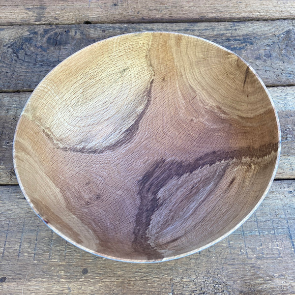 Painted Thin-wall bowl from Storm Fallen Oak - 1 (Blue)