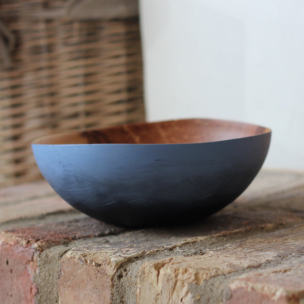 Painted Thin-wall bowl from Storm Fallen Oak -2 (Blue)