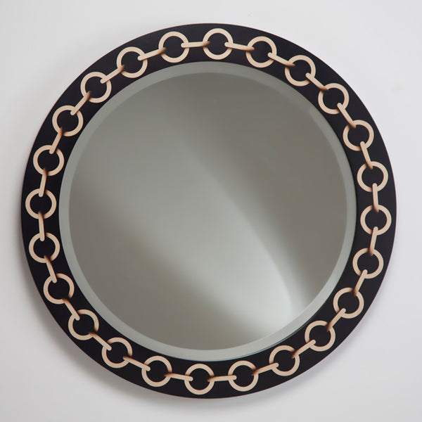 Chain Mirror - Black with shaded Sycamore