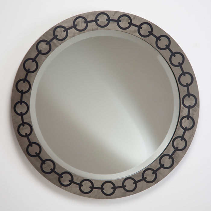 Chain Mirror - Grey with Black chain