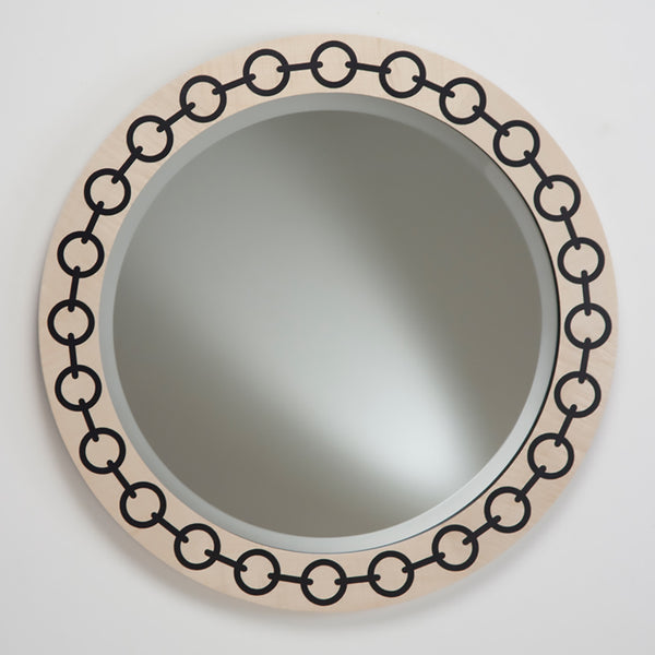 Chain Mirror - Sycamore with black chain