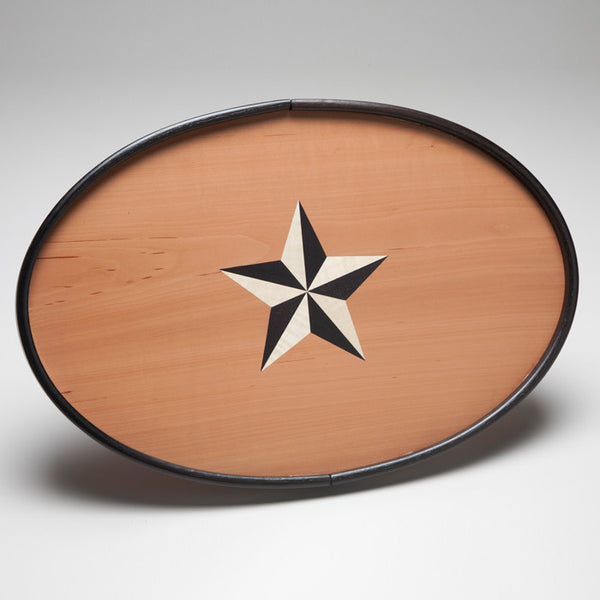 Bent wood tray made by Norfolk based designer Toby Winteringham.