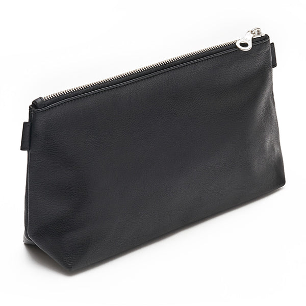 Washbag - Black. Luxury leather goods by Norfolk based designers Richings Greetham