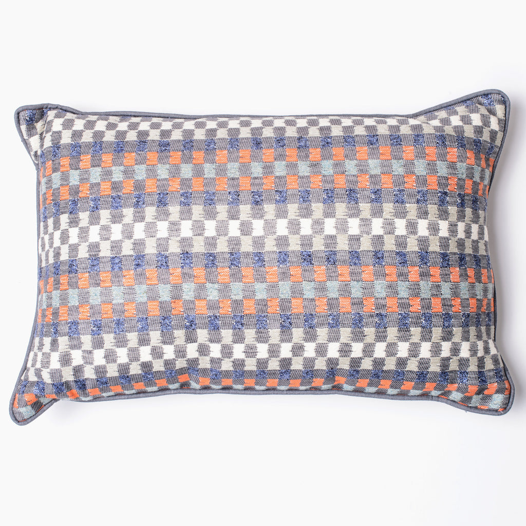 Homeware using woven textiles by Suffolk based designer Laura Fletcher