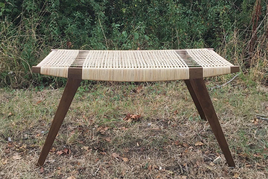 Pi2 stool. With woven cord seat by Norfolk based designers par-avion